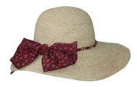lady natural color raffia crocheted straw hats to decorate, ladies beach hats to decorate, lady sun floppy hats