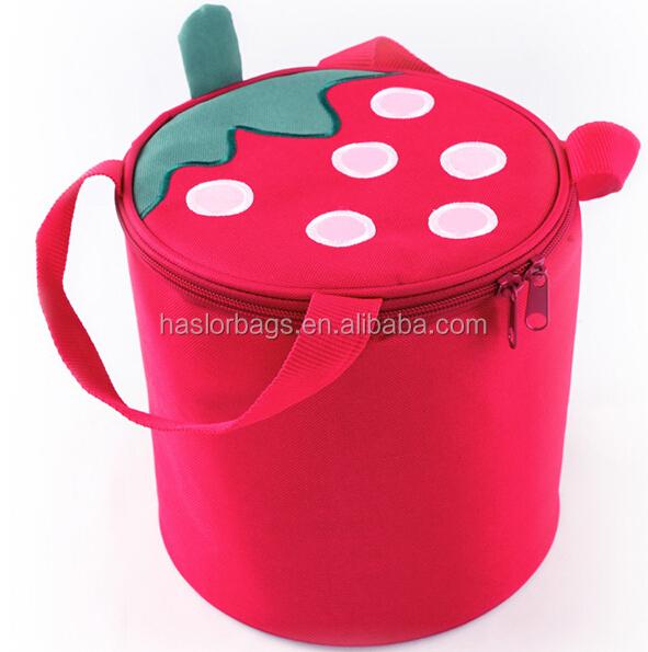Belle fraise jetable sac isotherme pour filles