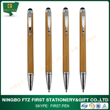 First HB012 Eco-friendly Bamboo Material Touch Screen Stylus Pen