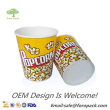 Customized Popcorn paper cup