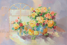 Modern Flowers Oil Painting Living Room Decoration Home Decor Direct China