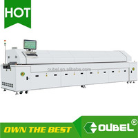 obsmt-Factory price Hot air LED wave Reflow Oven 6 zones / 8 zones for LED mount soldering