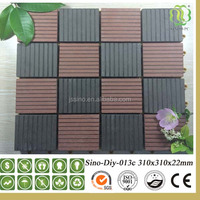 Waterproof Good Qulity Anti-UV WPC Flooring Wood Plastic Composite Decking WPC DIY Tiles
