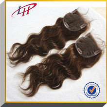 Qingdao Factory cheap price hair accessory, Blonde&Brown body wave Brazilian virgin Human Hair 4*4 lace closure