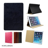 Embossing patterns flip leather crocodile skin for ipad air case