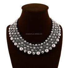 fashion beaded crystal short necklace