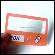 Business card size magnifier eye glasses magnifying plastic fresnel lens