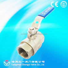 2pc economic threaded stainless steel ball valve China manufacturer