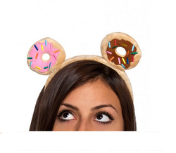 Plush Donut Head Band / Plush Headband and Hairband