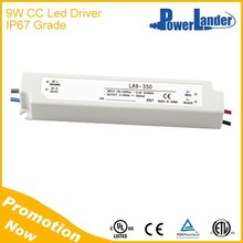 IP67 Grade 9W 700mA Constant Current Led Driver with CE Certificate