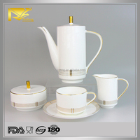 Drinkware chinaware tea set, classic coffee and tea set, antique coffee and tea sets