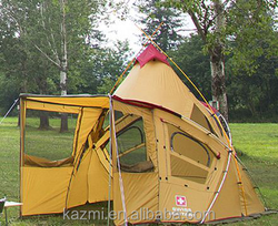 Korean Style Conical Camping Tent Big Family custom tent making