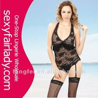 Hot Lace image sexy women transparent lingerie set