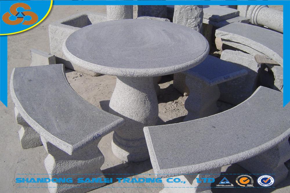 garten granit stein esstisch und bank-set für verkauf-tisch im, Garten und Bauten