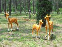 Life size fiberglass deer statue for sale