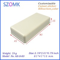 """small plastic plastic box for electronic device of 81x41x15mm/ 3.19""""2.01""""0.79"""" inch"""