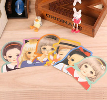 Customized Different printing pattern postcards,Lovely doll for Christmas cards
