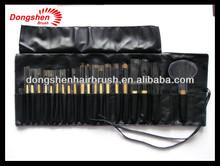 bamboo handle makeup brush set 20pcs,make up brush with cosmtics bag,goat hair makeup kits chinese supplier