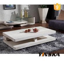 Foshan Modern High Quality Square Travertine Base Coffee Table