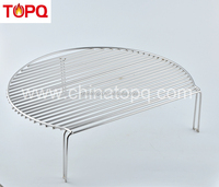 TOPQ bbq accessories Wholesale the double cooking grate with folding section for outdoor bbq