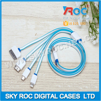 2.1A 4 in1 multifunction data cable USB charging cable for mobilephone