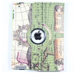 for ipad leather case custom Christmas printed design tablet cover case
