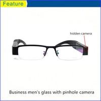 Best price hd camera glasses 1280*720 720p black paper
