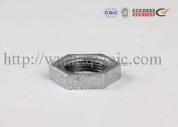 galvanized malleable iron high pressure water meter pipe fitting backnut with good quality and low price