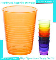 2015 best selling new high quality clear disposable colored kids plastic drinking cups, BPA freeDrinking plastic mug