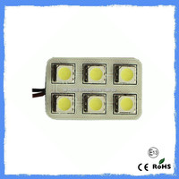 Cheaper price +DC12v car bulb +led read light PCB Dome light 6pcs 5050SMD+wholesales