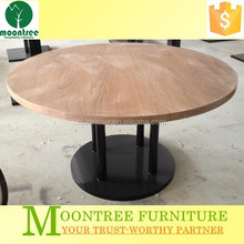 Moontree MDT-1136 restaurant round hand carved teak wood tables furniture thailand