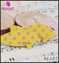 Pink polka dots printed cute animal shape snap clip