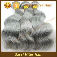 100% UNPROCESSED VIRGIN NATURAL GREY HUMAN HAIR WEAVING