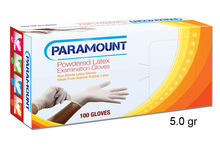 Paramount Latex Powdered Examination Glove 5.0gr