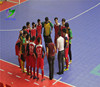 Competitive price PP interlocking portable floor for futsal courts