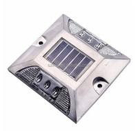 Wholesale waterproof aluminum silver LED solar cat eye road stud