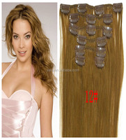Wholesale straight clip in human hair extension Sale On Line