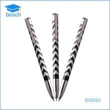 Black water ripple slim engraved metal cross pen