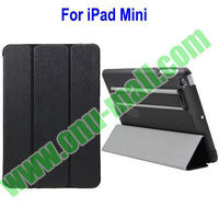 Leather Material 3 Folio for iPad Mini Belt Clip Case With Armband (Black)