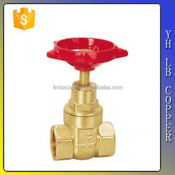 LINBO-C970 taizhou manufacturer low price customized 1/2 inch 600 wog forged brass threaded non rising stem gate valve