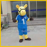 Plush animal adults sports mascot costume horse