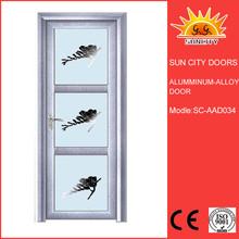 Total light proof frosted glass aluminum door SC-AAD034