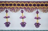 decoration colored furniture fringe,beads tassel trims