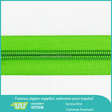 guangzhou brand factory production various eco-friendly long chain nylon zipper for garment,shoes