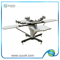 4 color 4 station t-shirt screen printing machine