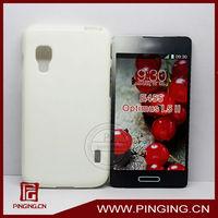 Smooth jelly TPU mobile phone case cover for lg optimus l5 ii e455 e460