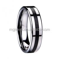 tungsten Finger Ring With rubber inlay