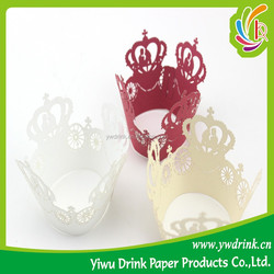 Decoration Birthday Hollow Out Crown Cupcake Wrappers