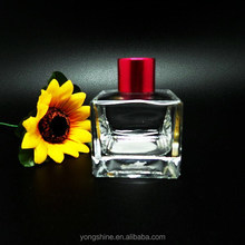 75 ml square transparent glass perfume bottle importers