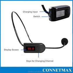 Professional tour guide teacher wireless mini microphone, cheap rechareable wireless microphone Head set microphone